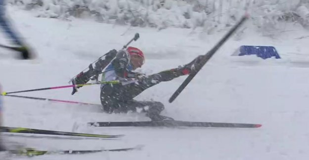 Biathlon-Coupe du monde à Oberhof: Deuxième Saison malgré la Double Chute