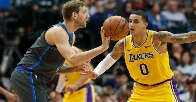De la NBA, Dirk Nowitzki et les Dallas Mavericks perdre contre Golden State