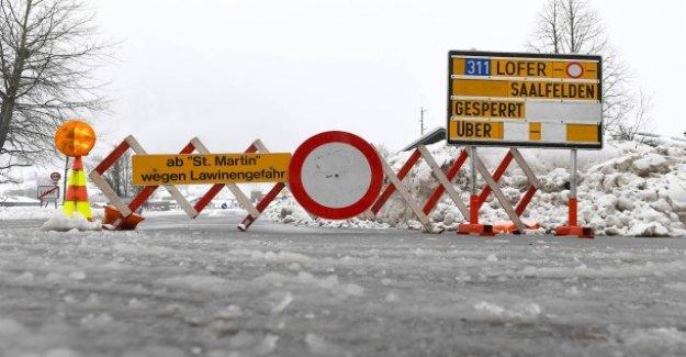 Plus haut Niveau d'alerte est étendu à de Nombreux départs d'Avalanches, dans le Tyrol