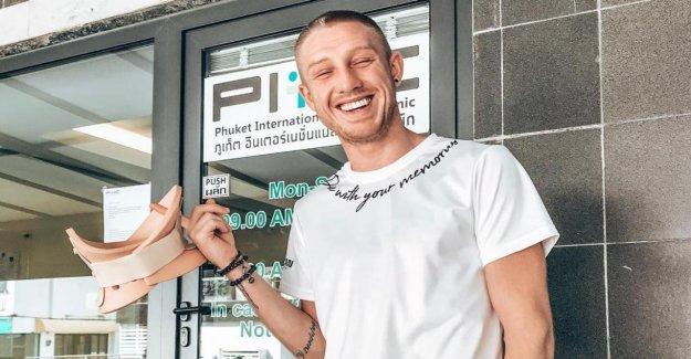 Professionnel Thaiboxer Pascal Schroth (25) - en bonne Santé Cou-Rupture