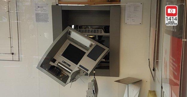 Distributeur automatique de sauter: les Délinquants de fuir avec des dizaines de milliers d'Euros