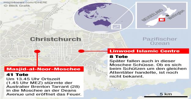 Abdul Aziz frappa de Christchurch de l'Assassin en Fuite - Vue
