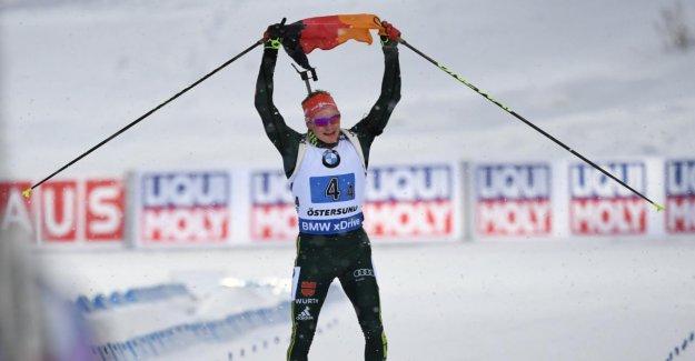 Biathlon-coupe du monde à Östersund: Allemand Relais Hommes apporte la coupe du monde de l'Argent