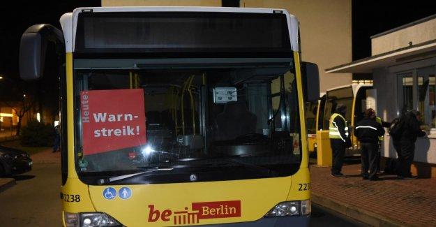 Conflit de travail à Berlin: grève d'avertissement dans le domaine des bus de la LPP, le Jeudi