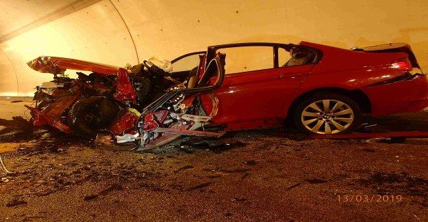 Deux Blessés après une collision Frontale Collision dans le Tunnel de la Vue
