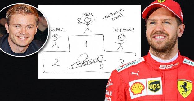 Formule 1: Nico Rosberg peint, Sebastian Vettel, en Australie à la Victoire