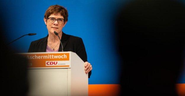 Kramp-Karrenbauer: GroKo-Check préfèrent en cas de mauvaise conjoncture Économique
