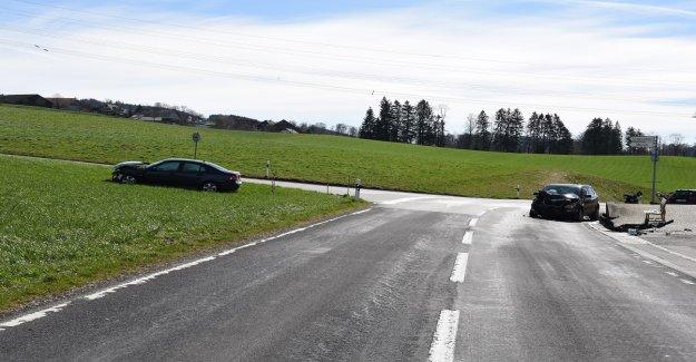 Quatre Blessés après une Collision à Beromünster LU - Vue