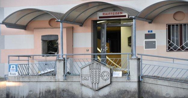 Raiffeisen-Distributeur de billets dans le Tessin, explose - Vue