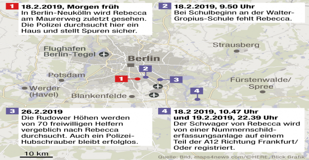Recherche de Rebecca: Berlin, la Police bloque les sorties d'autoroute
