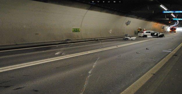 Trois Blessés après Collision dans le Tunnel à Schaffhouse - Vue