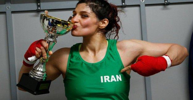 Parce que sans le Foulard, qui s'est battu: Iranien Boxerin menace de Prison