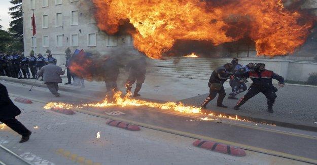 Gewaltproteste à Tirana contre le Gouvernement, Vue
