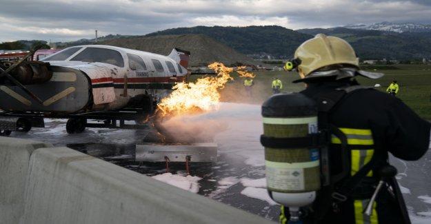 Notfallübung sur l'Aérodrome de Thoune - Vue