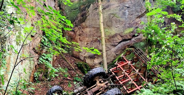 Accident: Traktoristin se bloque à 15 Mètres de Profondeur