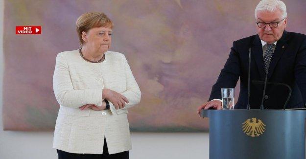 Angela Merkel: Zitteranfall de la Chancelière dans le Château de Bellevue