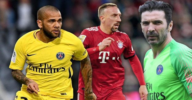 Avec Buffon, Dani Alves, Ribéry: Les Super-Onze Vertragslosen