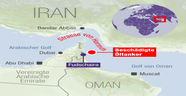 Les citernes avant de l'Iran Côte ont tiré à Vue