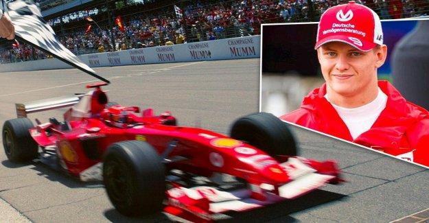 Michael Schumacher: Mick continue de Papa Ferrari sur le circuit d'Hockenheim