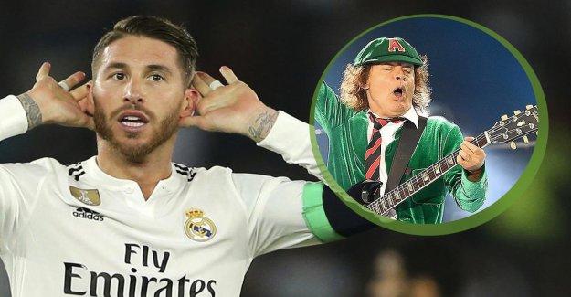 Real Madrid: AC/DC de jouer sur le Mariage du Capitaine Sergio Ramos