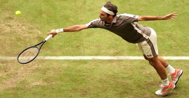 Tennis: incroyablement habite Roger Federer à Halle - Vue