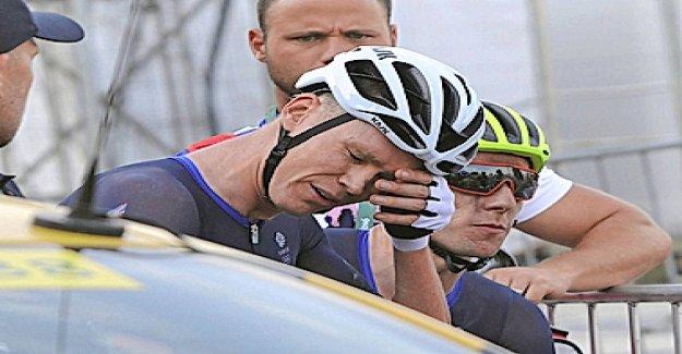 Thomas et Bernal après Froome Chute choqué Vue