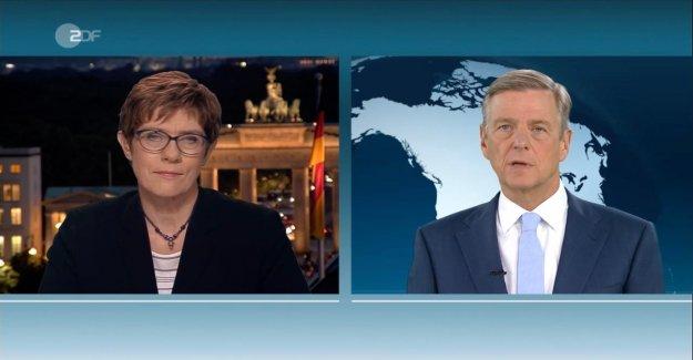 AKK lors de la Colle dans la ZDF: Combien de temps vous restez, Vous, ministre de la Défense?