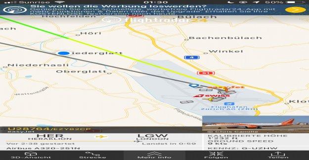Atterrissage à Zurich: Easyjet était à Londres, voyage, Vue