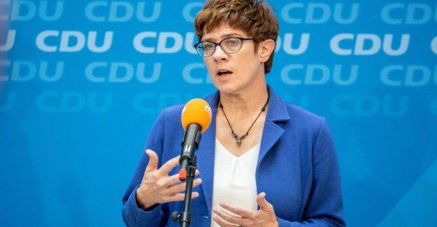 CDU: Annegret Kramp-Karrenbauer a pas plus de Plaisir sur les Valeurs de l'Union