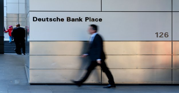 Chef de la Deutsche Bank, dans un Tissu de Vue