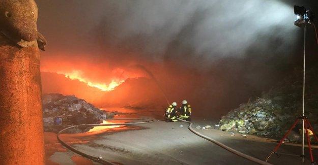 Diemelsee - grand feu dans la Voirie