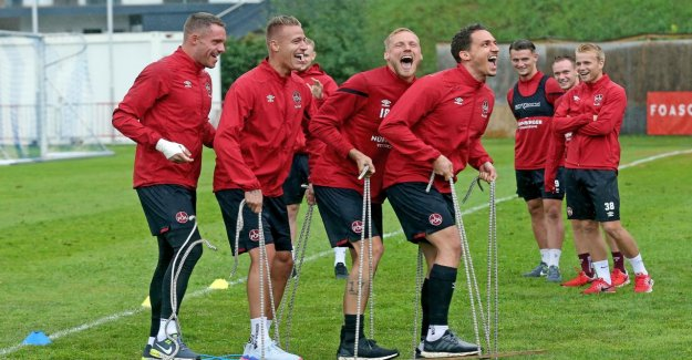 FCN: l'entraînement Mental: Ici tape du 1. FC Nuremberg à la Montée