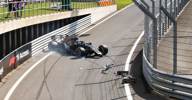 Formule 1: la Formation dans le circuit de Silverstone – Grosjean-Accident de la voie des Stands