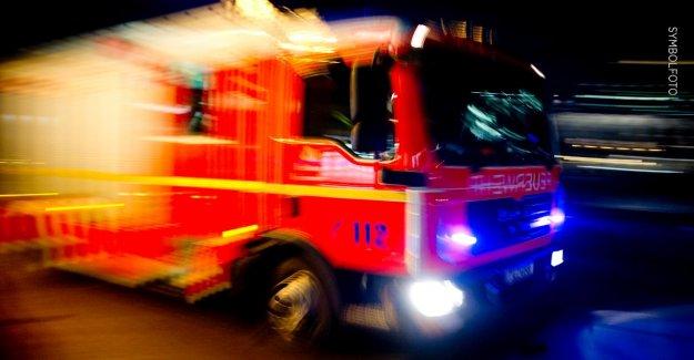 Grand feu dans Beverstedt Grange par un Incendie détruit