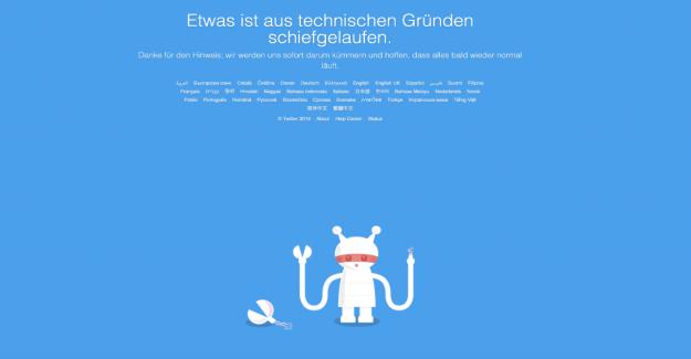 Twitter: Problèmes de connexion Réseau social dans le monde perturbé