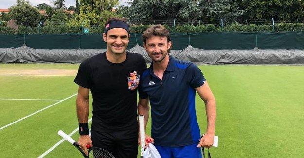 Wimbledon 2019: Roger Federer s'entraîne avec les Espagnols Ferrero - Vue