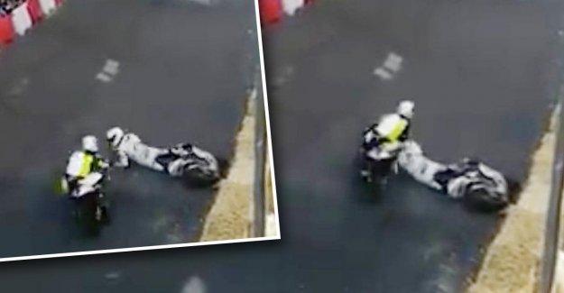 Coureur de moto survécu à ce terrible accident