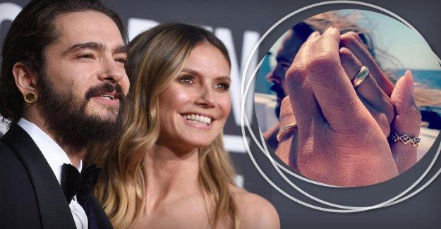 Heidi Klum et Tom Kaulitz de nous montrer vos anneaux de mariage