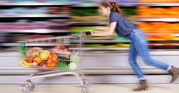 Supermarché-Étude de la Deutsche aller toujours plus vite, faire du shopping