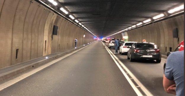 Violente Collision survenue dans le Tunnel du saint-gothard - Vue