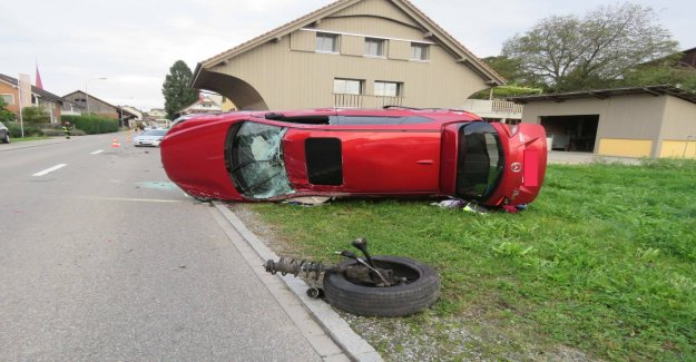 Collision à Mühlau AG: le Bonheur dans le Malheur - Vue