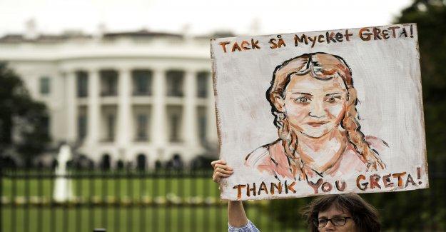 Etats-UNIS: Greta Thunberg ont manifesté devant la Maison Blanche - Vue