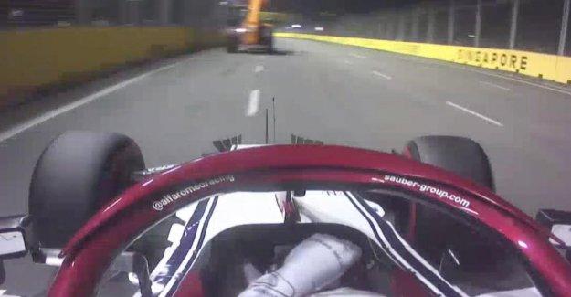 Formule 1 à Singapour: Antonio Giovinazzi craque presque avec Grue ensemble
