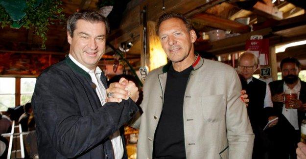 L'IMAGE de l'Oktoberfest au Scarabée de la Tente: Ralf Moeller attire Söder à Hollywood