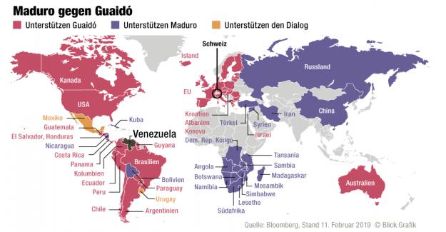 La lutte pour le pouvoir au Venezuela: Poutine assure Maduro pour plus d'Aide