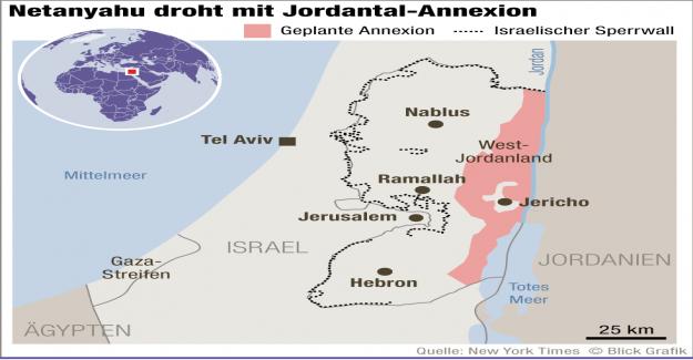 Lors de la Victoire en Israël-Choix: Netanyahu veut annexer la vallée du jourdain - Vue