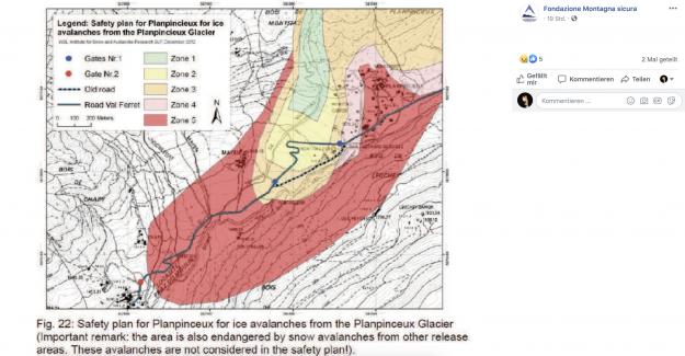 Mont-Blanc, les Glaciers menace de s'effondrer: le blocage de Routes - Vue