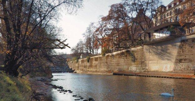Munich: Œuvre d'art sur la rivière Isar, la Ville veut un Pont vers Nulle part