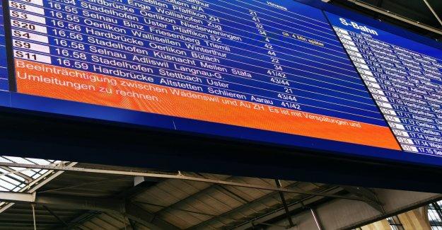 Zurich–Coire: Annulations en raison de Gleisschaden pour Thalwil - Vue