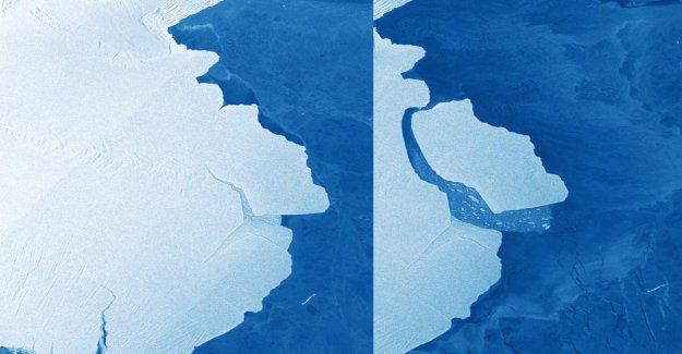 Énorme Iceberg éclate en Antarctique par les Glaces à partir de la Vue à